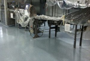 Antimicrobial Epoxy Floor Coating aids in lab work and food & beverage processing.