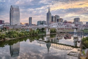 Nashville, Tenn. Riverview at dusk. Industrial Epoxy Floor Coating Contractors in Tennessee