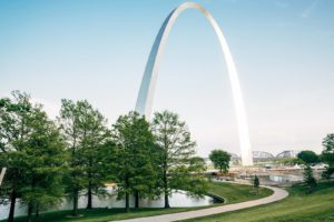 The Gateway Arch in St. Louis. For your epoxy floor coating St Louis, trust Progressive.